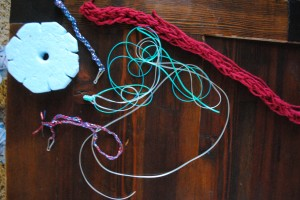 We learned several different lanyard and finger weaving techniques