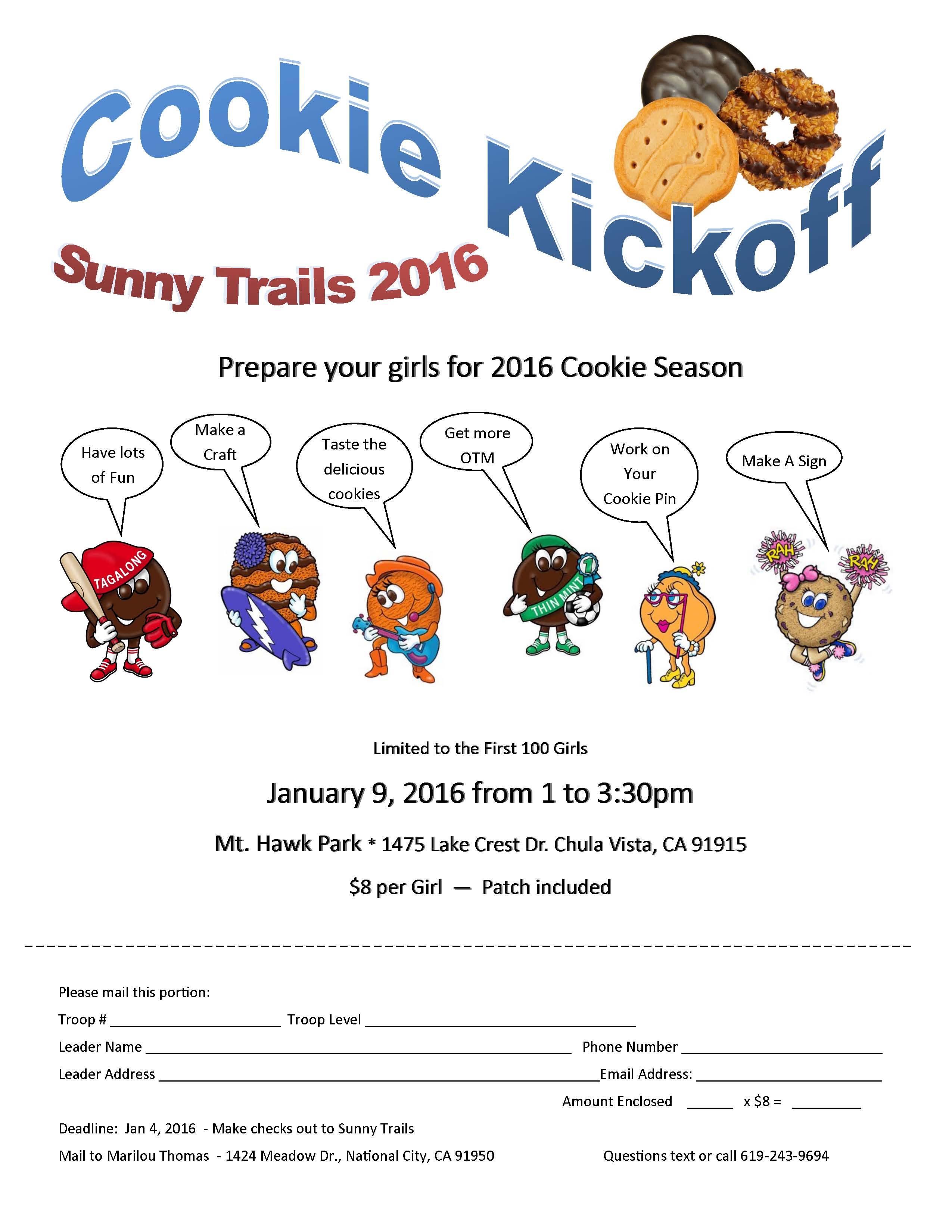 Cookie Kickoff flyer