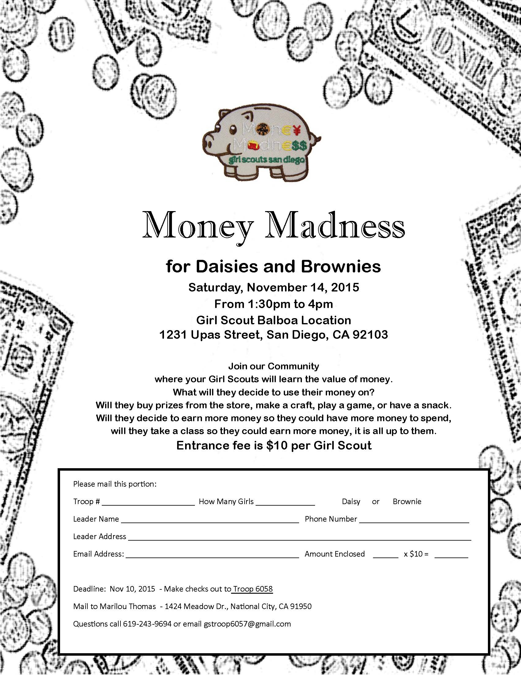 Money Madness Flyer aug 17