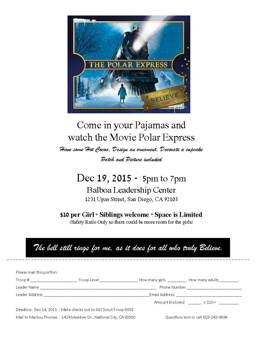 Polar Express Flyer