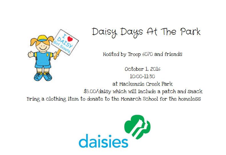 daisy days sunnytrails girl scout service unit